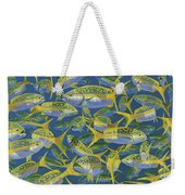 Yellowtail Frenzy In0023 Weekender Tote Bag