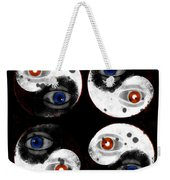 Yin-yang Black And White Weekender Tote Bag