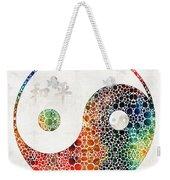 Yin And Yang - Colorful Peace - By Sharon Cummings Weekender Tote Bag