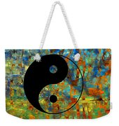 Yin Yang Abstract Weekender Tote Bag