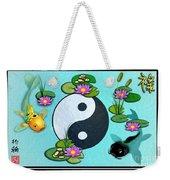 Yin Yang Koi Pond Scenery Weekender Tote Bag