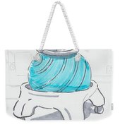 Yoga Ball Cartoon Weekender Tote Bag