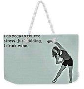 Yoga Wisdom Weekender Tote Bag