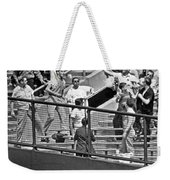 Yogi Berra Home Run Weekender Tote Bag by Underwood Archives