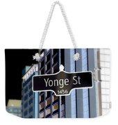 Yonge Street Weekender Tote Bag