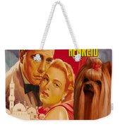 Yorkshire Terrier Art Canvas Print - Casablanca Movie Poster Weekender Tote Bag