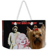 Yorkshire Terrier Art Canvas Print - Some Like It Hot Movie Poster Weekender Tote Bag
