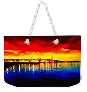 Yorktown Bridge Sunset Weekender Tote Bag