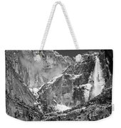 Yosemite Falls In Black And White II Weekender Tote Bag by Bill Gallagher