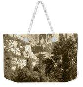 Yosemite Falls Sepia Weekender Tote Bag