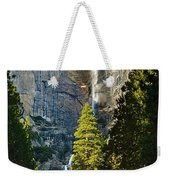 Yosemite Falls With Late Afternoon Light In Yosemite National Park. Weekender Tote Bag by Jamie Pham
