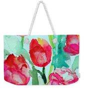 You Enlighten Me- Painting Of Tulips Weekender Tote Bag