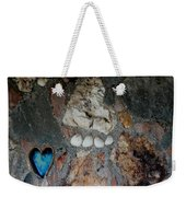 You Left Your Pawprint In My Heart Weekender Tote Bag