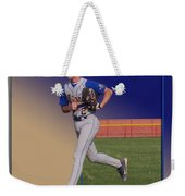 Young Baseball Athlete Weekender Tote Bag