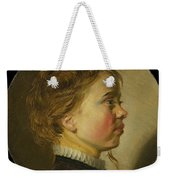 Young Boy In Profile  Weekender Tote Bag