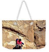 Young Climber In Joshua Tree Np-ca- Weekender Tote Bag