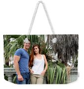 Young Couple Palm Tree Weekender Tote Bag