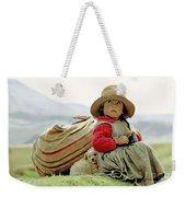Young Girl In Peru Weekender Tote Bag
