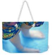 Young Girl Standing In Pool Weekender Tote Bag
