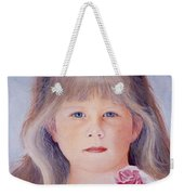 Young Girl With Roses Weekender Tote Bag