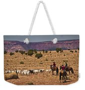 Young Goat Herders Weekender Tote Bag by Priscilla Burgers
