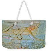 Young God-figure On Wall In Angkor Wat In Angkor Wat Archeological Park Near Siem Reap-cambodia Weekender Tote Bag