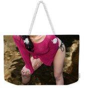 Young Hispanic Woman In Creek Weekender Tote Bag