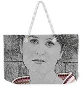 Young Lady With Multicolored Shawl Weekender Tote Bag