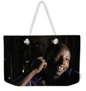 Young Maasai Warrior In The Village Weekender Tote Bag