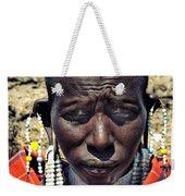 Portrait Of Young Maasai Woman At Ngorongoro Conservation Tanzania Weekender Tote Bag