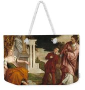 Young Man Between Vice And Virtue Weekender Tote Bag