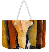 Young Man With Cap Weekender Tote Bag
