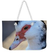 Young Muscovy Closeup Weekender Tote Bag