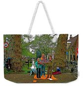 Young Musicians On Orange Day By A Canal In Enkhuizen-netherland Weekender Tote Bag