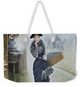 Young Parisian Hatmaker Weekender Tote Bag by Jean Beraud