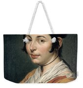 Young Peasant Woman Holding A Wine Flask Weekender Tote Bag