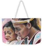 Young Polynesian Mama With Child Weekender Tote Bag