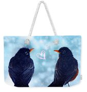 Young Robins In Love Weekender Tote Bag