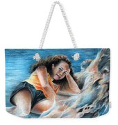 Young Tahitian Mermaid Weekender Tote Bag