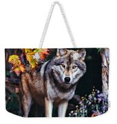 Young Timber Wolf Weekender Tote Bag