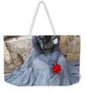 Young Woman Busker In Syracusa Sicily Weekender Tote Bag
