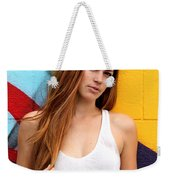 Young Woman Weekender Tote Bag