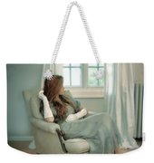 Young Woman In A Chair Weekender Tote Bag