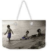 Youth At The Beach Weekender Tote Bag