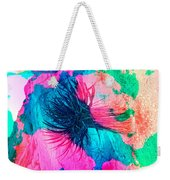 Yucca Abstract Pink Blue Green Weekender Tote Bag