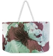 Yucca Abstract Sage And Mauve Weekender Tote Bag