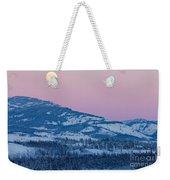 Yukon Canada Winter Landscape And Full Moon Rising Weekender Tote Bag