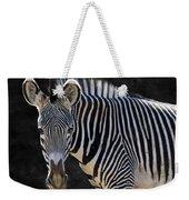 Z Is For Zebra Weekender Tote Bag