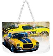 Yellow Z28 Camaro Weekender Tote Bag