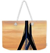 Zakim Bridge In Boston Weekender Tote Bag by Elena Elisseeva